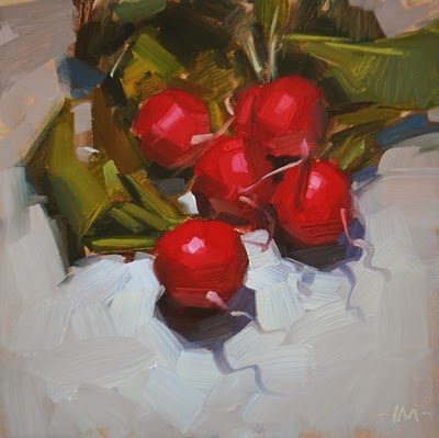 """Badishes"" original fine art by Carol Marine"
