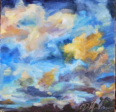 """From Above - Clouds, Day 4"" original fine art by Carol DeMumbrum"