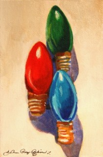 """Christmas Turn-Ons"" original fine art by JoAnne Perez Robinson"