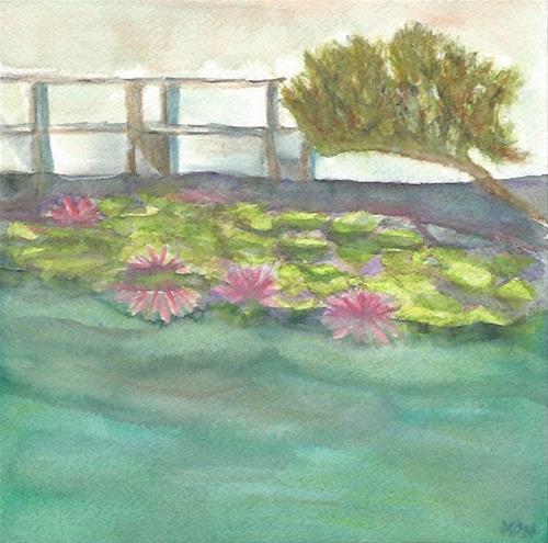 """Chinese Garden, Portland OR"" original fine art by Laura Denning"