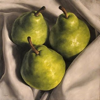"""Wrapped Pears"" original fine art by Michael Naples"