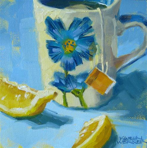 """Tea & Lemon"" original fine art by Karen Werner"