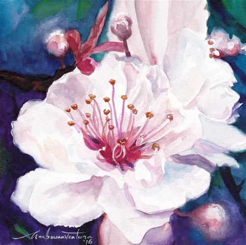 """Cherry Blossoms"" original fine art by Ann Buenaventura"