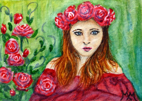 """Rose Beauty"" original fine art by Monique Morin Matson"
