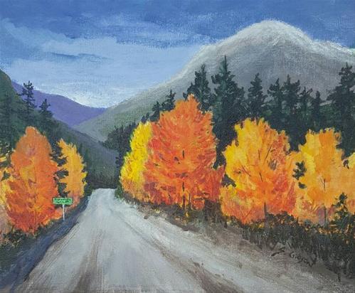 """""""Elizabeth's Mountain"""" original fine art by Steve Gibson"""