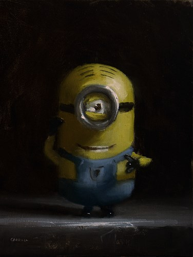 """Minion Toy"" original fine art by Neil Carroll"