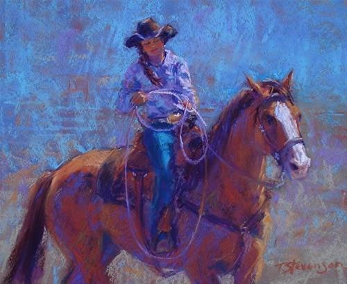 """Cowgirl Team"" original fine art by Trish Stevenson"