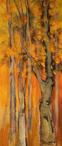 """Fall Trees, Landscape Paintings by Arizona Artist Amy Whitehouse"" original fine art by Amy Whitehouse"