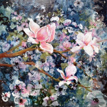 """Spring Blossoms"" original fine art by Sue Dion"