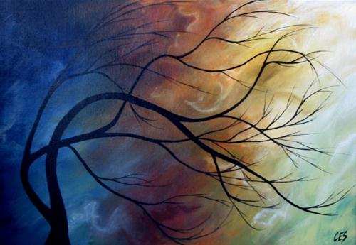 """Voices in the Wind"" original fine art by ~ces~ Christine E. S. Code"