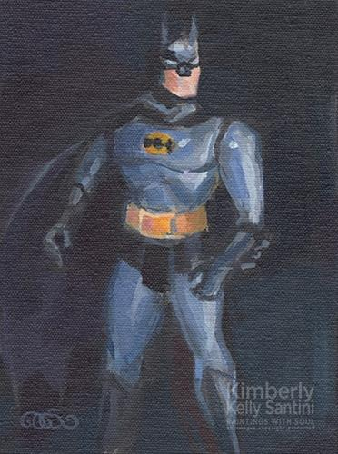 """The Caped Crusader"" original fine art by Kimberly Santini"