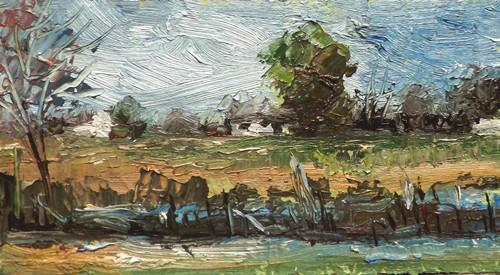 """Landscape,j29"" original fine art by Run-      Zhang Zane"
