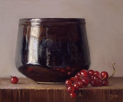 """Still Life with Rice Bowl and Red Currants"" original fine art by Abbey Ryan"