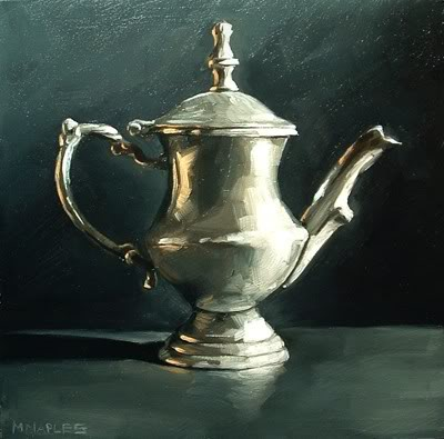 """Antique Silver Creamer"" original fine art by Michael Naples"