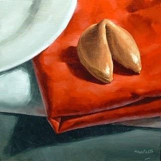 """Fortune Cookie"" original fine art by Michael Naples"