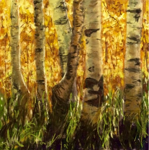 """THE FOREST THRU THE TREES"" original fine art by Marti Walker"