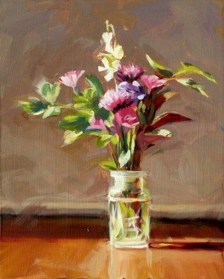 Oil Painting of a Spring Bouquet original fine art by Deb Anderson