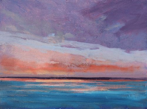 """Calm after the Storm, Beach and Ocean Paintings by Amy Whitehouse"" original fine art by Amy Whitehouse"