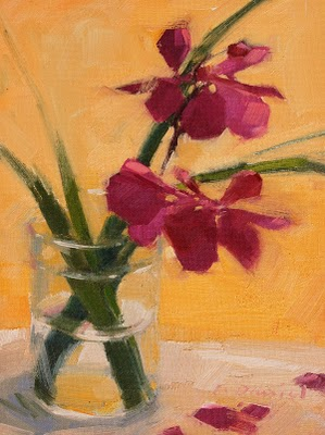 """Orchid Drops"" original fine art by Laurel Daniel"