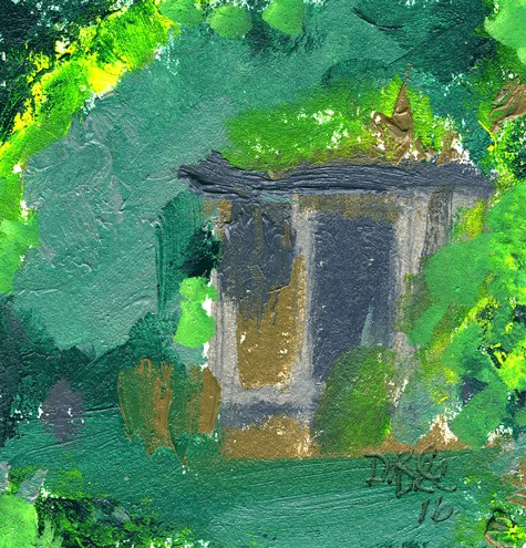 """Outhouse With History"" original fine art by Donna Crosby"