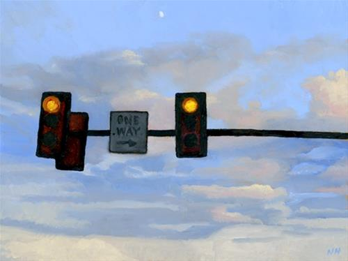 """ONE WAY"" original fine art by Nancy Herman"