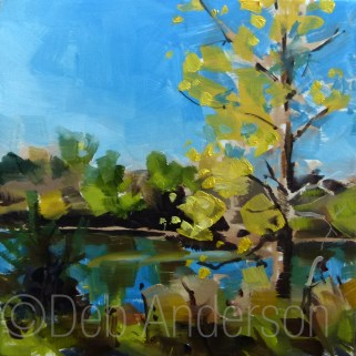 """Oil Painting: Cottonwood"" original fine art by Deb Anderson"