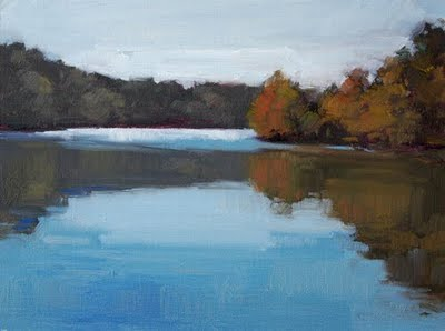 """Fall Reflections"" original fine art by Laurel Daniel"