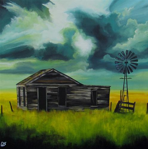 """Weathering Another Storm"" original fine art by ~ces~ Christine E. S. Code"