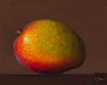 """Brazilian Mango, Rio de Janeiro, Brazil"" original fine art by Abbey Ryan"