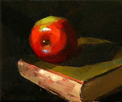 """On an Old Book ---Sold"" original fine art by Qiang Huang"