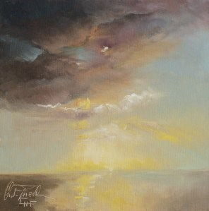"""Wolkenstimmung – Cloud impression"" original fine art by Christa Friedl"