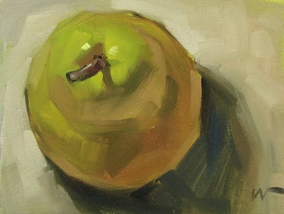 """Just a Pear 5 --- SOLD"" original fine art by Carol Marine"
