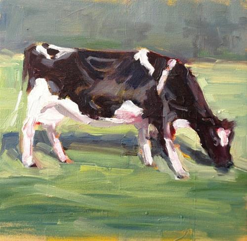 """""""Out Grazing"""" original fine art by Deborah Newman"""