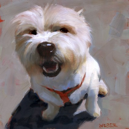 """Westie"" original fine art by Kathy Weber"