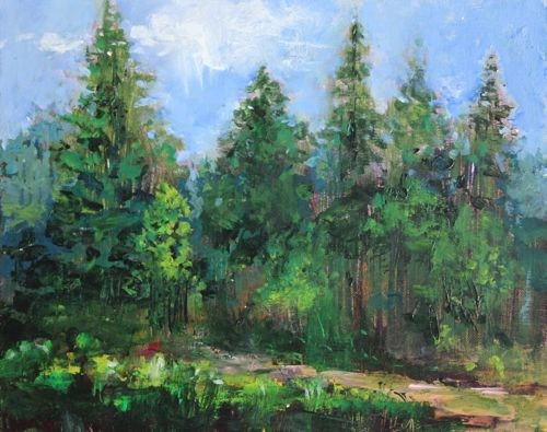 """Northern Arizona Forest Landscape Paintings by Arizona Artist Amy Whitehouse"" original fine art by Amy Whitehouse"