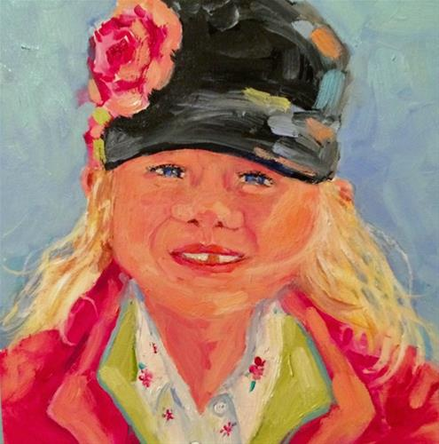 """Girl in Pink"" original fine art by Suzy 'Pal' Powell"