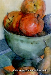 """Vertigris Bowl"" original fine art by Deirdre McCullough Grunwald"