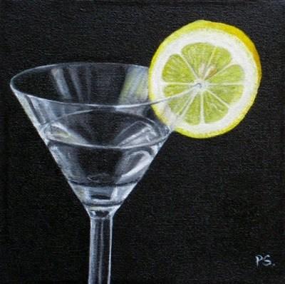 """Lemon and Martini"" original fine art by Pera Schillings"