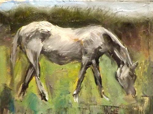 """HORSE,A18"" original fine art by Run-      Zhang Zane"