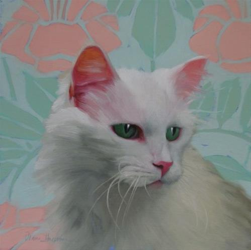 """The Senior, a new cat painting by Hoeptner"" original fine art by Diane Hoeptner"