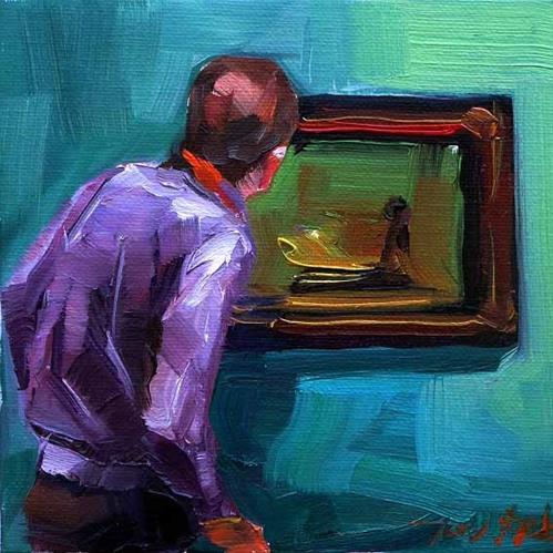 """""""Besuch beim Rembrandt 2"""" original fine art by Jurij Frey"""