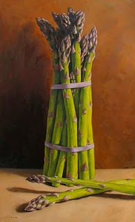 """Asparagus Bunch"" original fine art by Michael Naples"