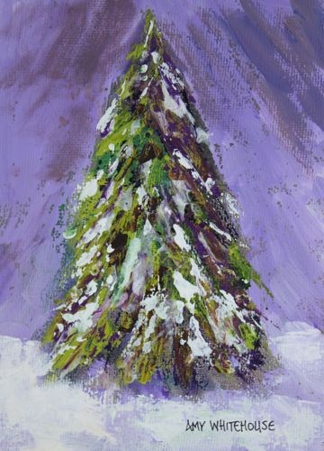 """Elegant Evergreen, Landscape Paintings by Arizona Artist Amy Whitehouse"" original fine art by Amy Whitehouse"