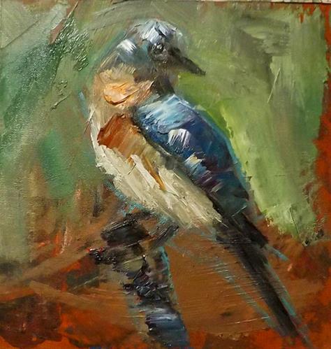 """Bird,M13"" original fine art by Run-      Zhang Zane"