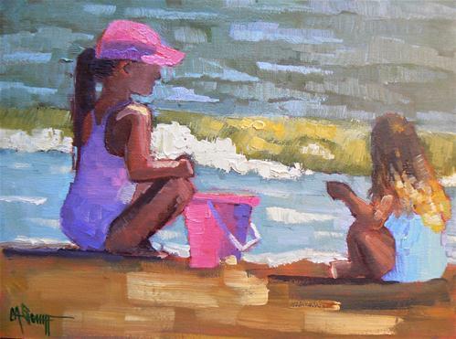 """Sunbabies"" original fine art by Carol Schiff"