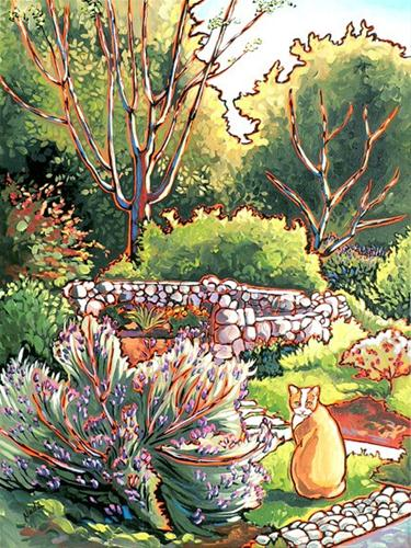"""McCleary's Cat"" original fine art by Nadi Spencer"