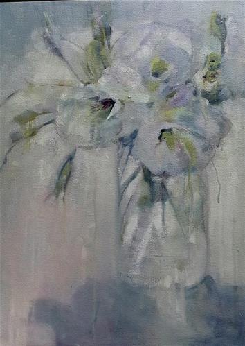 """Shades of white"" original fine art by Rentia Coetzee"