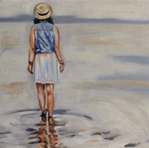 """...and never touch the ground...."" original fine art by Sonja Neumann"