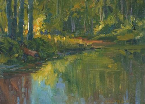 """Redwood creek"" original fine art by J. Thomas soltesz"
