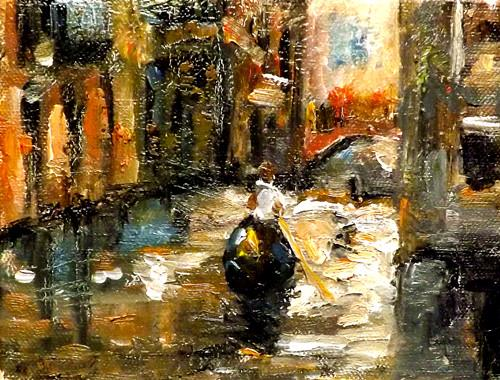"""Venice,U28"" original fine art by Run-      Zhang Zane"